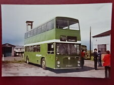 PHOTO  DECAMBRIA BRISTOL VRT/SL6G BUS DWG EX SHEFFIELD AT ABERAERON 1981