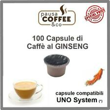 100 capsule cialde CAFFE' AL GINSENG compatibili UNO SYSTEM