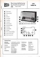 Servicio Manual de instrucciones SABA Wildbad 100