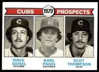 1979 Topps Set Break Mint Geisel Pagel Thompson Chicago Cubs #716