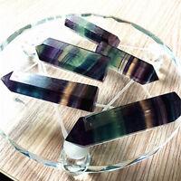 Natural Fluorite Quartz Crystal Stone Point Pipe Healing Hexagonal Wand New Hot