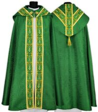 Green Semi Gothic Cope with stole KY637-Z25p Capa pluvial Verde Piviale Chape
