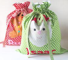SANTA SACKS - Applique Sewing Craft PATTERN - Christmas Shabby Chic