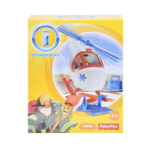 Fisher Price Toy - Imaginext City Helicopter And Medic Figure Playset