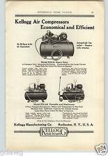 1921 PAPER AD Kellogg Air Compressor Car Auto Automobile Gas Station Garage