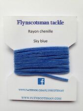 SKY BLUE RAYON CHENILLE 2 METRE 3mm SIZE 0 FROM FLYNSCOTSMAN TACKLE FLY TYING