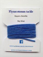 BLU cielo Rayon CINIGLIA 2 Metri 3mm taglia 0 da flynscotsman affrontare volare la vendita abbinata