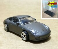 Majorette Porsche 911 Carrera Matt Grey 1/64 209E no Package Free Show Box