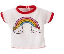 Barbie Hello Kitty Fashion Pack Red & White Rainbow Top New