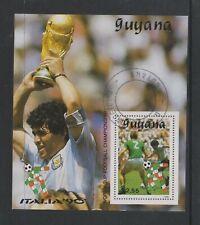 Guyana - 1990, Italia '90 World Cup Football, Argentina sheet - F/U