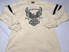 Genuine Harley Davidson Motor Cycles Shirt Daytona Florida Long Sleeve Size Med