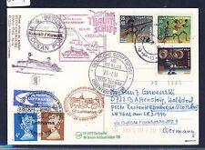 58889) LH FF Frankfurt - Edinburgh GB 28.3.99, Karte SP ab Kuwait Olympiade