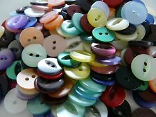 170 ASSORTED COLOURS FISHEYE BABY BUTTONS SIZE 18 - 11MM.