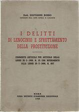 Rosso DELITTI DI LENOCINIO E SFRUTTAMENTO DELLA PROSTITUZIONE 1960 Legge MERLIN