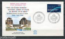 FRANCE 1988, FDC 1° JOUR, DECLARATION DROITS HOMME, ART 1°, timbre 2559