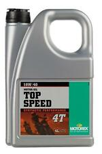 huile motorex moto  4 temps  top speed  10w40   synthetic  perf 4  litres