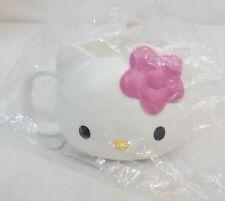 Vtg 1999 Sanrio HELLO KITTY Mascot FACE Die Cut 8oz Plastic Cup Mug Japan NEW