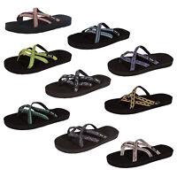 Teva Womens Olowahu Webbing Flip Flop Sandal Shoes