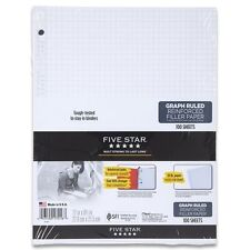 Five Star Reinforced Graph Filler Paper, Graph Ruled, Loose-leaf, 11 x 8.5 Inch