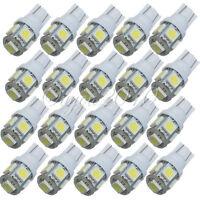 20x T10 W5W 158 194 168 5050 SMD 5 LED Veilleuse Canbus Xénon Ampoule Lamp Blanc