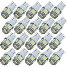 20x T10 W5W 158 194 168 5050 SMD 5 LED Veilleuse Canbus Xénon Ampoule Lamp Blanc