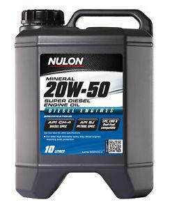 Nulon Premium Mineral Oil Super Diesel 20W-50 10L OD20W50-10 fits Land Rover ...
