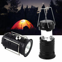 Camping Solar Lantern Portable Rechargeable Handheld Lamp Flashlight LED Light