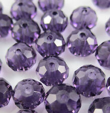New Faceted 1000pcs Rondelle glass crystal 3*4mm Beads purple