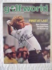 BEN CRENSHAW signed 1980 Golf World magazine NL AUTO Autographed TEXAS LONGHORNS