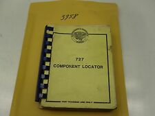 3958 ) AIRPLANE 727 COMPONENT LOCATOR TRAINING MAINTENANCE MECHANIC BOOK