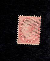 CANADA, Scott #14, Fine Used, 1c Rose Victoria 1859
