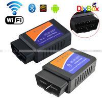 ELM327 OBD2 WiFi Bluetooth OBDII Car Auto Diagnostic Scanner Code Reader Tool