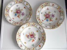 SCHUHMANN  Porzellan  Teller  Blumenteller  Suppenteller  3 Stück  24 cm