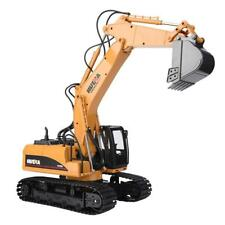 HUINA 1550 1:14 15CH Metal Remote Control Excavator Truck RC Engineering Car W