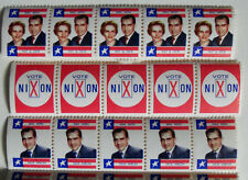 Richard M. & Pat Nixon Campaign Stamps from 1960 Campaign Pennsylvania 3 Types
