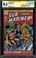 SUB-MARINER #45 CGC 8.5 WHITE PAGES SS STAN LEE SIGNED CGC #1508474024