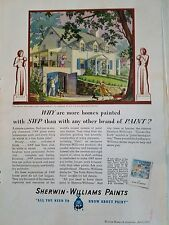 1937 Sherwin-Williams SWP Paint Homes Painted Rockwell Kent Figures Art Ad