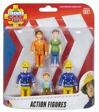 Fireman Sam Packung mit 5 Stück Artikuliert Spielzeug Aktion Figuren 3 Jahre+