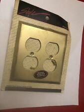 Style Design Four Outlet Brass Wallplate Cover