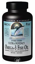 Source Naturals, Arctic Pure, Ultra Potency, Omega-3 Fish Oil, 850 mg, 120 Sgels