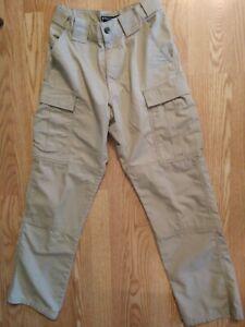 5.11 Tactical Series 74003 Beige Khaki Cargo Pants Mens Size 27 X 31 Uniform