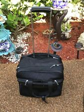 Montblanc Vintage Authentic Black Laptop Trolley Wheeled Business Travel Bag