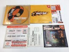 Sega Dreamcast CRAZY TAXI JAPAN JP GAME w/spine z1615