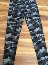 Women's Camo 3XL/5XL Fits Size 24 - 32 Buttery Leggings Super Stretchy Black