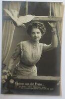 Frauen, Mode, Taube, Grüße aus der Ferne, 1911 ♥ (59634)