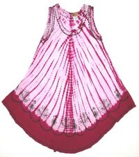 In Gear One Size Dress Pink 100% Rayon Dress One Size Fits Most Embroidered Soft