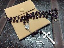 Blessed Jerusalem Soil Rosary Royal Purple Crystal Holy Sepulchre 2018