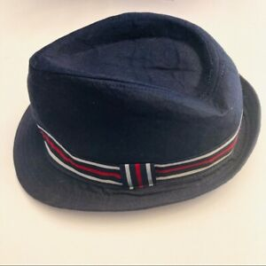 Children's place blue w red detail boys fedora hat large 10