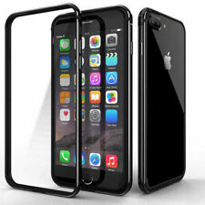 For iPhone 6S 7 8 Plus XS - Ultra Thin Hard Rubber BUMPER FRAME Case Cover Black