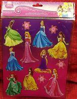 DISNEY Princess Hot Stamp STICKERS 8 x 10 Inch - Cinderella Belle Ariel Rupunzel